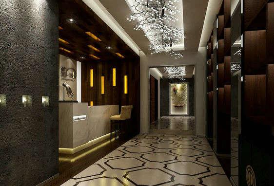 酒店走廊过道前台装修效果图图片